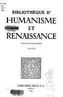 Pdf Bibliothèque d'humanisme et Renaissance