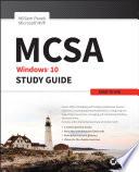 """MCSA Windows 10 Study Guide: Exam 70-698"" by William Panek"