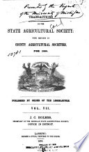 Transactions of the State Agricultural Society of Michigan Book