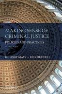 Cover of Making Sense of Criminal Justice