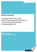 Normgerechtes Falten einer DIN-A1-Zeichnung nach DIN 824 - A (Unterweisung Technische/r Produktdesigner/in)