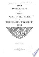 Park s Annotated Code of the State of Georgia  1914