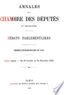 Annales de la Chambre des députés
