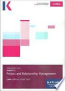 E2 PROJECT AND RELATIONSHIP MANAGEMENT - STUDY TEXT