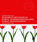 Research Methods in Public Administration and Public Management Pdf/ePub eBook