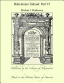 Babylonian Talmud: Part VI