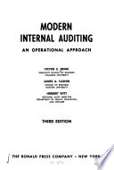 Modern internal auditing