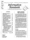 Information Standards Quarterly