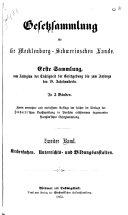 Gesetzsammlung für die Mecklenburg-Schwerinischen Lande