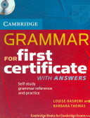 Grammar for First Certificate Self Study Pack Book with Answers and audio CD
