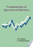 Fundamentals Of Agricultural Statistics Book