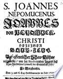 Sanctus Johannes Nepomucenus Christi Heiliger Blut-Zeug