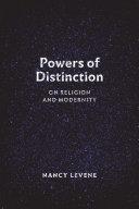 Powers of Distinction Pdf/ePub eBook