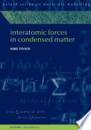 Interatomic Forces In Condensed Matter Book PDF