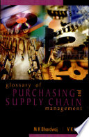 Glossary of Purchasing and Supply Chain Management