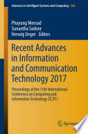 Recent Advances in Information and Communication Technology 2017 Book