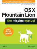 Pdf OS X Mountain Lion: The Missing Manual