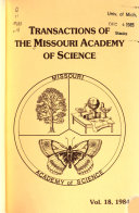 Transactions of the Missouri Academy of Science