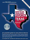 How to Do Your Own Divorce in Texas 2013 2015