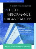 On High Performance Organizations