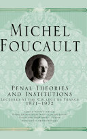 Penal Theories and Institutions