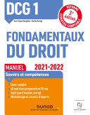 Pdf DCG 1 Fondamentaux du droit - Manuel - 2021/2022 Telecharger