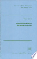 Prevention of Major Industrial Accidents Book
