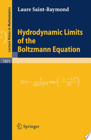 Download Hydrodynamic Limits of the Boltzmann Equation online Books - godinez books