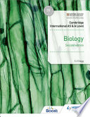 Cambridge International AS   A Level Biology Student s Book 2nd edition