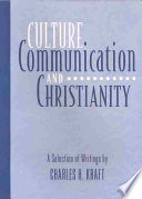 Culture  Communication  and Christianity Book