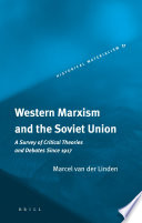 Western Marxism and the Soviet Union