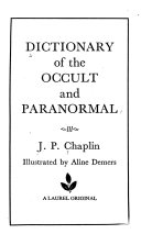 Dictionary of the Occult and Paranormal