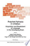 Acquired Aphasia in Children