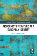 Modernist Literature and European Identity
