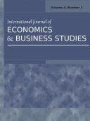 International Journal of Economics and Business Studies Pdf/ePub eBook