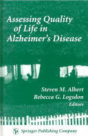 Assessing Quality of Life in Alzheimer s Disease Book