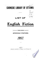 List of English Fiction