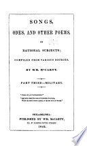 Songs  Odes    Other Poems  on National Subjects