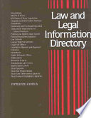 Law and Legal Information Directory  , Band 15,Teil 2004