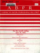 American Book Publishing Record ebook