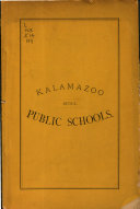 Annual Report of the Superintendent of the Public Schools of Kalamazoo  for the Year