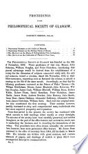 Proceedings of the Glasgow Philosophical Society