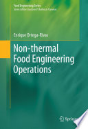 Non Thermal Food Engineering Operations Book PDF
