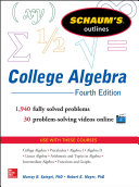 Schaum's Outline of College Algebra, Fourth Edition