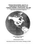Production Sharing: Use of U.S. Components and Materials in Foreign Assembly Operations, 1993-1996, Inv. 332-237