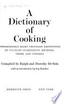 A Dictionary of Cooking