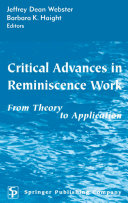 Critical Advances In Reminiscence Work