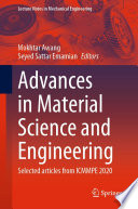 Advances in Material Science and Engineering