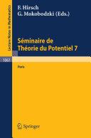 Sminaire de Theorie du Potentiel Paris [Pdf/ePub] eBook
