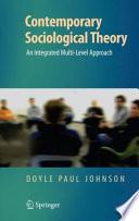Contemporary Sociological Theory Book PDF